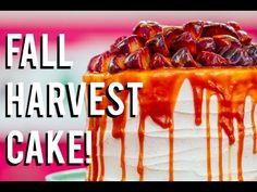 How To Make A FALL HARVEST CAKE! Carrot cake, caramel, cinnamon buttercream and sautéed fruit! - YouTube