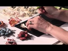 Arianna Blooms Flower Shaping and Die Cutting tips by Heartfelt Creations - YouTube