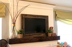 Framing a wall mount TV- LOVE the mantel too