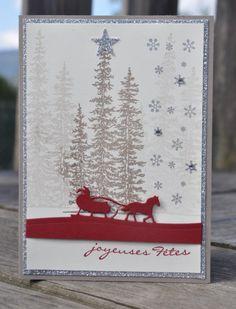 Carte Ode à Noël Wonderland par Marie Meyer Stampin up…