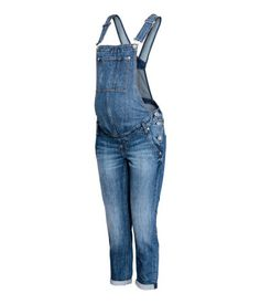 MAMA Denim Bib Overalls | Blue | Women | H&M US