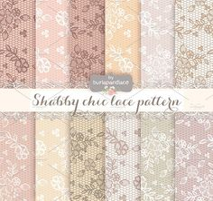 Lace nude shabby chic pattern by burlapandlace on @creativemarket