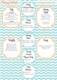 Daily, Fortnightly and Zones - Cleaning Schedule - good for a big house like ours, upstairs downstairs Zone Cleaning, Cleaning Hacks, Cleaning Routines, Cleaning Schedules, Daily Routines, Organisation Hacks, Organising Tips, Organizing Life, Organization Ideas