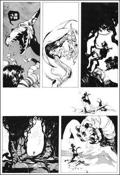 """Alien,"" by Jeffrey Catherine Jones, Spring 1969 Storyboard, Art Science Fiction, Jeff Jones, 70s Sci Fi Art, Windsor Smith, Comic Page, Fantasy Art, Character Design, Comics"