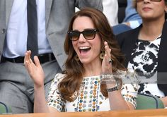 Catherine, Duchess of Cambridge attends the Men's Final of the Wimbledon Tennis Championships between Milos Raonic and Andy Murray at Wimbledon on July 10, 2016 in London, England.