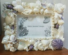 Sea Shell Picture &  Frame . 6×4 photo