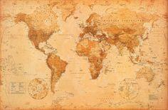 World executive poster sized wall map tubed world map mapa mundi pster gumiabroncs Image collections