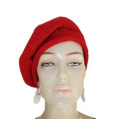 c440272a6968b Boina Vermelha em tecido 100% lã acrilica no tricot vermelha.  boina  boinas.  Smm Acessórios Femininos