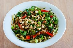 Kalyn's Kitchen®: Recipe for Julienned Zucchini Vegan Bowl with Peanut-Sriracha Sauce