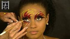 Make-Up Atelier Paris: Make Up Tutorial - Carnaval 2 Lidschatten Makeup Carnaval, Makeup Art, Eye Makeup, Make Up Atelier Paris, Phoenix Makeup, Adult Face Painting, Body Painting, Fantasy Make Up, Makeup Tutorials Youtube