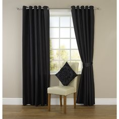 Shop for Wilko Black Faux Silk Eyelet Curtains 228 W x D at wilko - where we offer a range of home and leisure goods at great prices. Faux Silk Curtains, Layered Curtains, Black Curtains, Lined Curtains, Geometric Curtains, Geometric Decor, Colorful Curtains, Floral Curtains, Curtain Styles