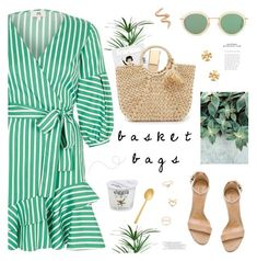 """Basket Bags"" by mylkbar ❤ liked on Polyvore featuring River Island, Schutz, Forever 21, Cutipol, Acne Studios, Tory Burch, Hat Attack and basketbags"