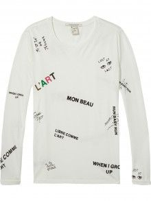 Scotch&Soda bílé tričko Artwork - 1080 Kč Scotch Soda, Long Sleeve, Artwork, Sleeves, Mens Tops, T Shirt, Fashion, Supreme T Shirt, Moda