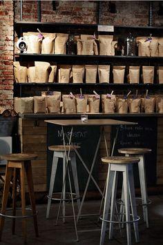 Da Matteo, design, interior, coffee shop, bar style, brown paper packaging