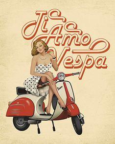 Litoarte Vespa, Motorcycle, Bike, Diversity, Frames, Artists, Te Amo, Wasp, Bicycle