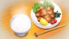Karaage and a bowl of rice!Shokugeki no Souma, Episode 18