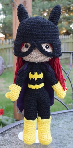 DC Batgirl Barbara Gordon Plush Amigurumi Doll by StitchingTales