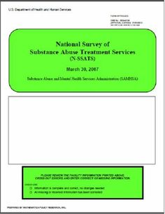 2007 National Survey of Substance Abuse Treatment Services (N-SSATS)  Questionnaire by Substance