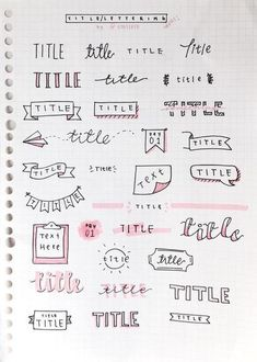 Bullet Journal Setup Ideas {The layouts your BUJO might be missing!} Take your bujo to the next level with these creative Bullet Journal setup ideas (that you can adopt at any time of the year! Bullet Journal Inspo, Organization Bullet Journal, My Journal, Journal Pages, Bullet Journal Headers, Bullet Journal Title Fonts, Bullet Journal Banner, Bullet Journal Beginning, Bullet Journal Ideas Handwriting