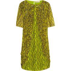 Matthew Williamson Embellished printed silk-chiffon dress ($1,925) ❤ liked on Polyvore