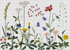 This Pin was discovered by Olg Cross Stitch Numbers, Just Cross Stitch, Cross Stitch Needles, Cross Stitch Flowers, Cross Stitching, Cross Stitch Embroidery, Embroidery Patterns, Hand Embroidery, Cross Stitch Designs