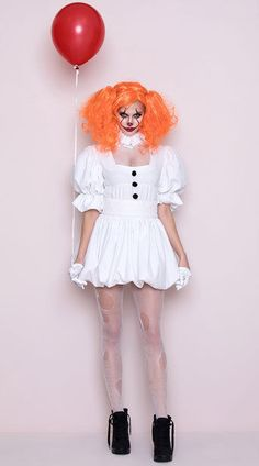 Brand new Dancing Sewer Clown Costume Size M NEW IT Yandy Dress Girl Clown White #Yandy #CompleteOutfit