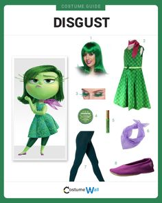 Dress like Disgust from Inside Out. Get cosplay inspiration and more Disgust costume ideas.
