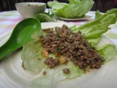 Spicy Beef Lettuce Wraps - Lunch #wraps #freezercooking #oamc