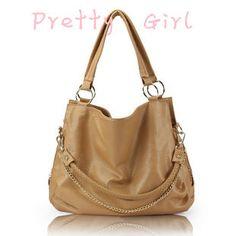 2013 new arrival genuine leather chain knit women's fashion handbag office lady elegant shoulder bag free shipping pg-280 $33.00