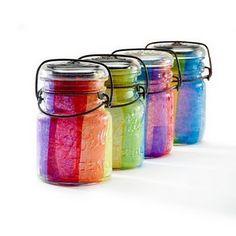Colourful jar.
