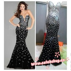 2014 Jewel black mermaid dress $159 each at Celebsbuy.cn