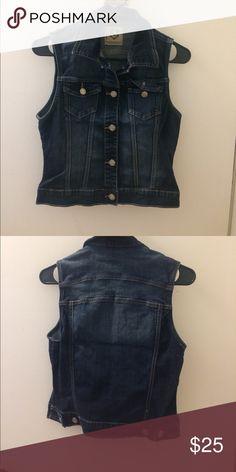 Denim vest It's stretchy, 10/10 condition, wax jeans design lab Jackets & Coats Vests