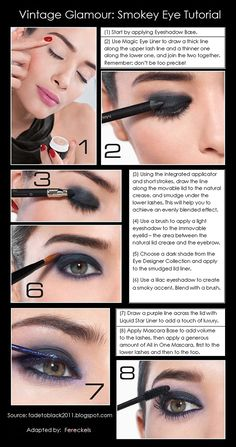 Try this easy tutorial for vintage smokey eye makeup.