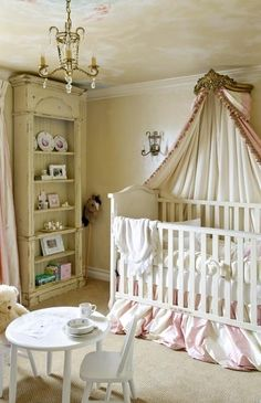 Rustic and whimsical girls nursery by leanna. I like the antique yellow color