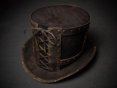 Steampunk Top Hat Victorian Top Hat Men Women by SteampunkHatMaker