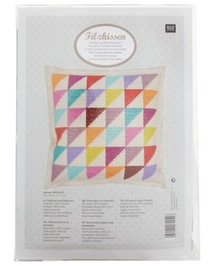Rico Triangle Cushion Kit, Multi // Treat that crafter to this triangle cushion kit from Rico Design. With everything you'll need to create a colourful embroidery cushion including fabric, threads, a needle and instructions, this kit is a great gift for any creative homeowner.