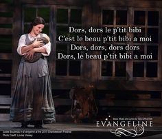 Josée Boudreau as Evangeline in the 2015 Charlottetown Festival Production.
