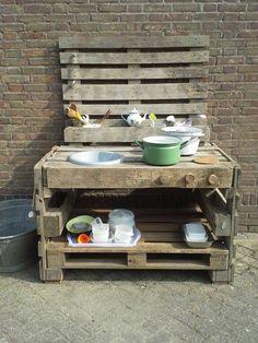 Küche von Paletten - - #OutdoorKuche