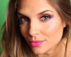 Maquiagem de carnaval →  #redeglobo #gshow #moda #beleza #rosto #make #maquiagemdecarnaval #makedecarnaval #olhos
