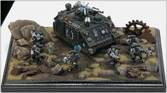 40k - Iron Hands Space Marines by Nathan Comanse