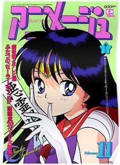 'Sailor Mars Magazine' Poster by reikanpoppu Sailor Moon Aesthetic, Aesthetic Art, Aesthetic Anime, Orange Aesthetic, Cute Poster, Poster Wall, Poster Prints, Poster Collage, Art Print