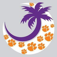 Clemson Crescent Moon Decal could use any mascot and school colors
