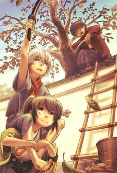 Leuco, Gin Tama, Katsura Kotaro, Takasugi Shinsuke, Sakata Gintoki, Ladder