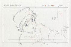 天空の城ラピュタ修正ラフ原画 Laputa, Castle in the Sky #StudioGhibli #Ghibli #HayaoMiyazaki #Miyazaki
