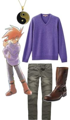 Gary Oak (Pokemon) Inspired Outfit