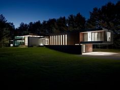 Residence in Clearview, Ontario, Canada - at night.  Designed by Altius Architecture. #house #night