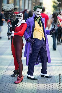 The Joker & Harley Quinn Cosplay by Anthony Misiano / Harley's Joker & Joker's Harley, photo by Estrada Photography at WonderCon 2013
