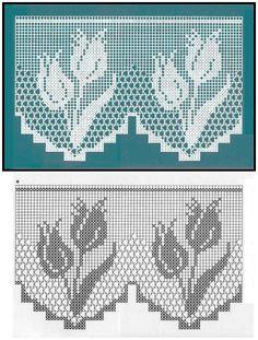 Barrados de Crochê com Flores -