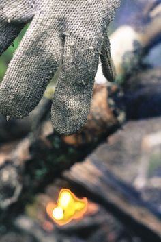 #gloves, #forest, #bonfire, #Taganay