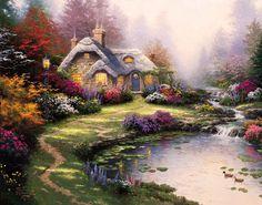 Everett's Cottage by Thomas Kinkade